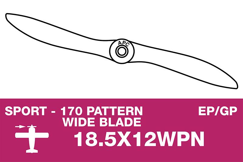 APC - Sport Propeller - Thin - EP/GP - 18.5X12WPN