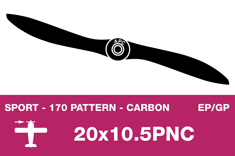 APC - Sport Propeller - Carbon - Thin - EP/GP - 20X10.5PNC