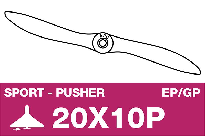 APC - Sport Propeller - Pusher / CCW - EP/GP - 20X10P