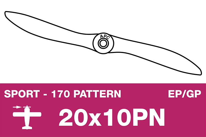 APC - Sport Propeller - Thin - EP/GP - 20X10PN