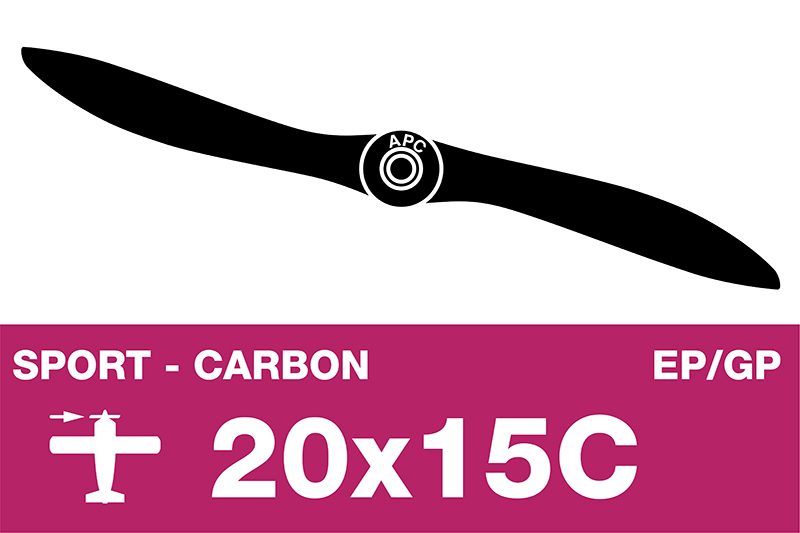 APC - Sport Propeller - Carbon - EP/GP - 20X15C