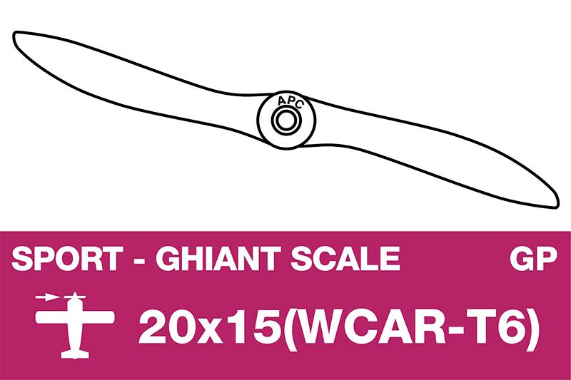 APC - Sport Propeller - Giant scale - 20X15(WCAR-T6)