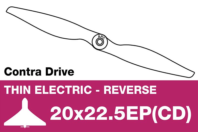APC - Electro Propeller - Thin - Pusher / CCW - 20X22.5EP(CD)