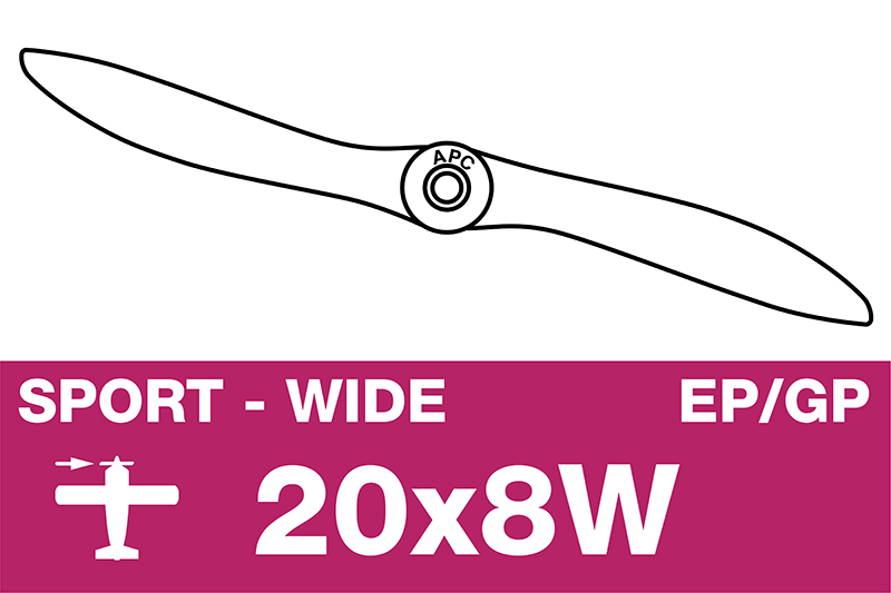 APC - Sport Propeller - EP/GP - 20X8W