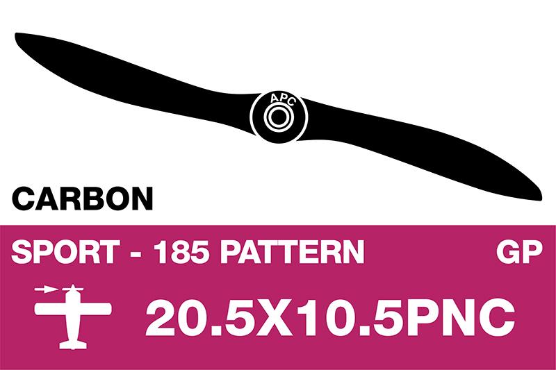 APC - Sport Propeller - Carbon - Thin - EP/GP - 20.5X10.5PNC