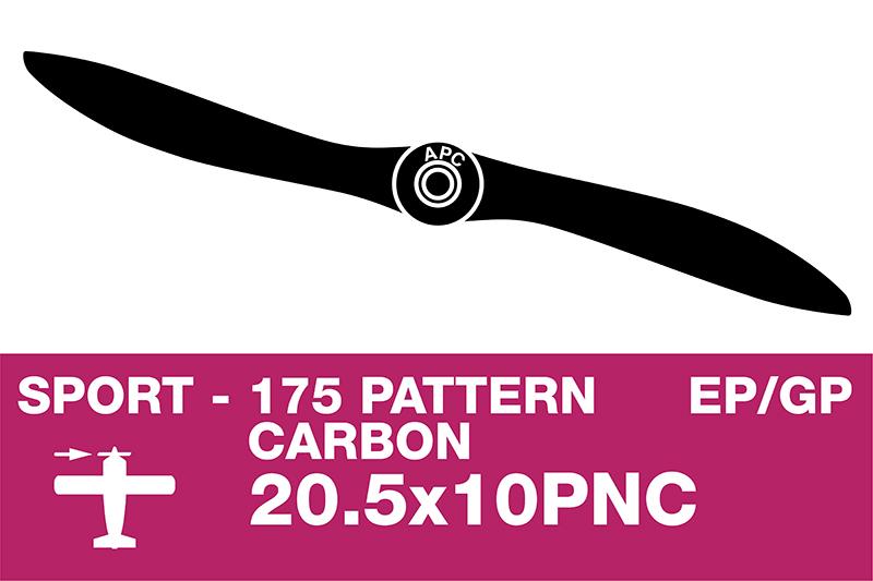 APC - Sport Propeller - Carbon - Thin - EP/GP - 20.5X10PNC