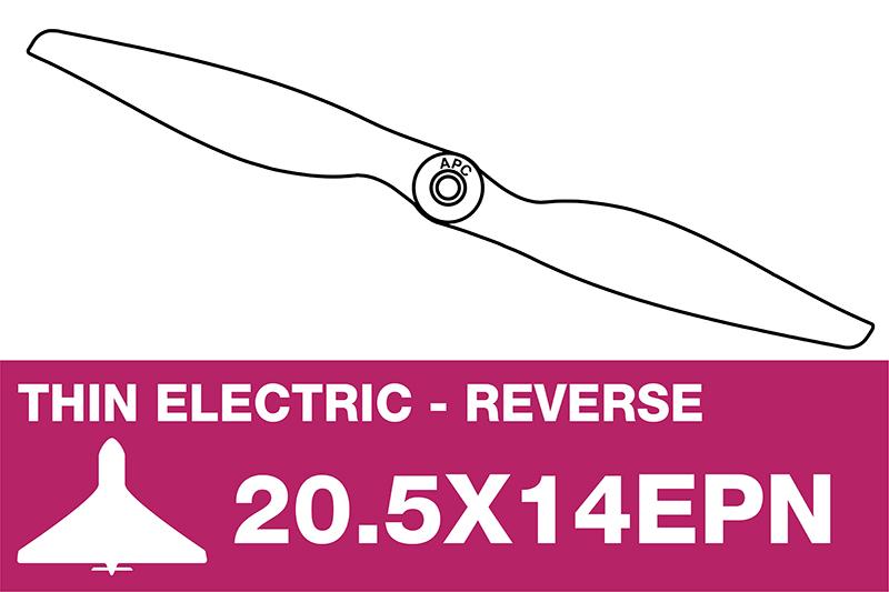 APC - Electro Propeller - Thin - Pusher / CCW - 20.5X14EPN
