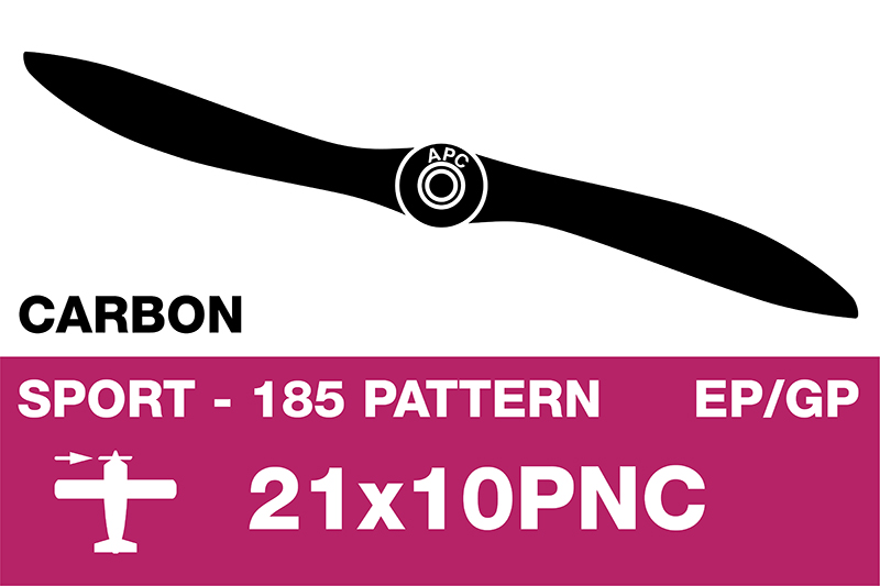 APC - Sport Propeller - Carbon - Thin - EP/GP - 21X10PNC