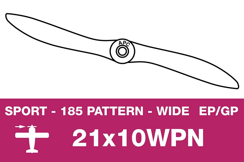 APC - Sport Propeller - Thin - EP/GP - 21X10WPN