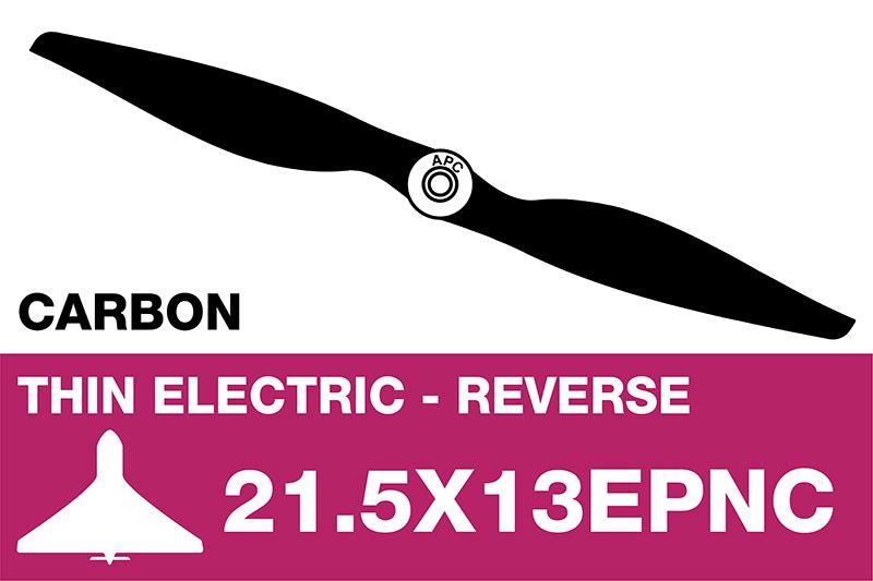 APC - Electro Propeller - Thin - Carbon - Pusher / CCW - 21.5X13EPNC