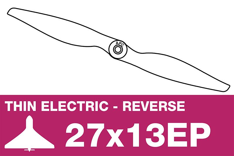 APC - Electro Propeller - Thin - Pusher / CCW - 27X13EP