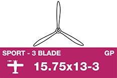APC - Sport Propeller 3 Blade - Thin - 15.75X13-3