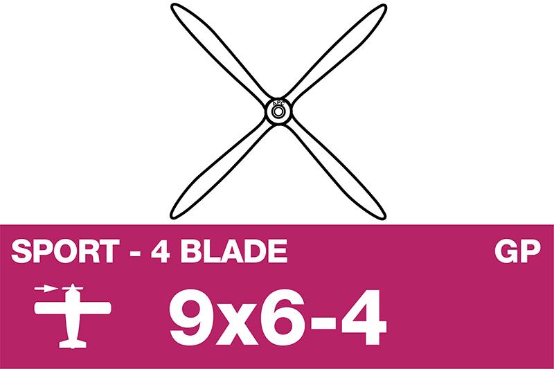 APC - Sport Propeller 4 Blade - EP/GP - 9X6-4