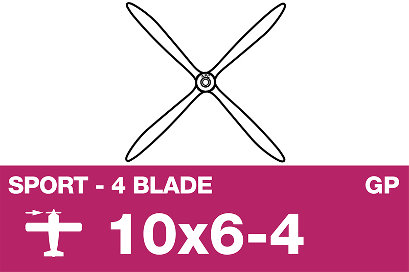 APC - Sport Propeller 4 Blade - EP/GP - 10X6-4