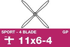 APC - Sport Propeller 4 Blade - EP/GP - 11X6-4