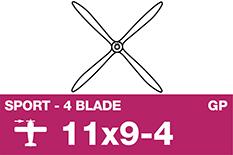 APC - Sport Propeller 4 Blade - EP/GP - 11X9-4