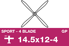 APC - Sport Propeller 4 Blade - EP/GP - 14.5X12-4