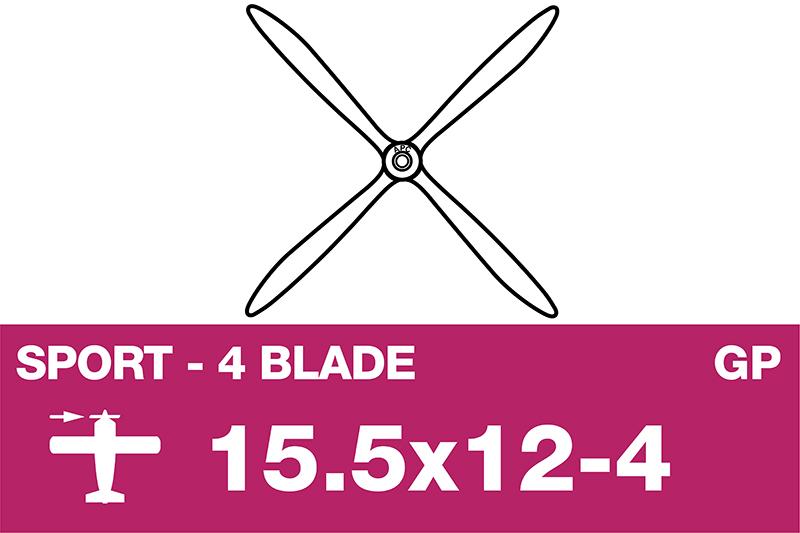 APC - Sport Propeller 4 Blade - EP/GP - 15.5X12-4
