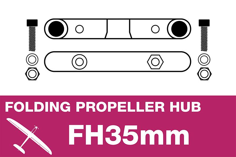APC - Folding Electric Propeller Blades Adapter Hub - 35MMFH