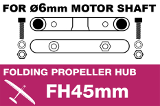 APC - Folding Electric Propeller Blades Adapter Hub - 45MMFH (for 6mm motor shaft)