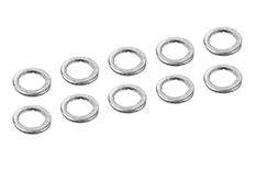 Team Corally - Alum. Shim Ring - ID 3mm - OD 4mm - 0.5mm - 10 pcs