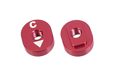 Team Corally - Alum. Excentric Camber Nut - C - 0° - 2.0° - 2 pcs