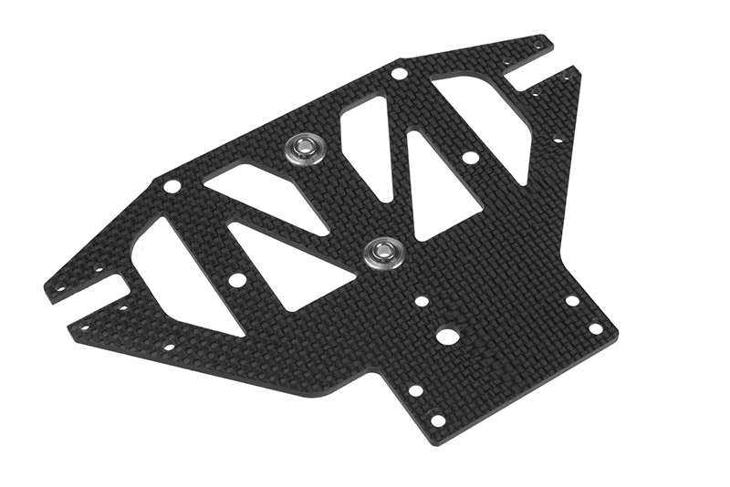 Team Corally - Front Lower Suspension Plate SSX-8R - 3K Carbon - spherical ball (2) included - 1 pc