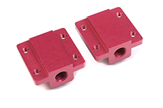 Team Corally - Aluminum Pivot Ball Mounting Block - A - 2 pcs