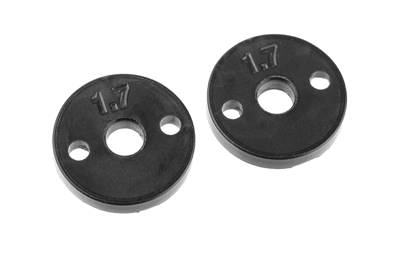 Team Corally - Shock Piston - Composite - 2x 1.7mm Holes - 2 pcs