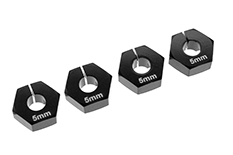 Team Corally - Wheel Hex Adapter - Alu. - 4 pcs