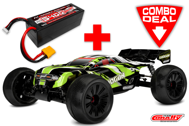 SHOGUN XP 6S Combo - w/ LiPo Battery TC Power Racing 50C 4S 5400mAh