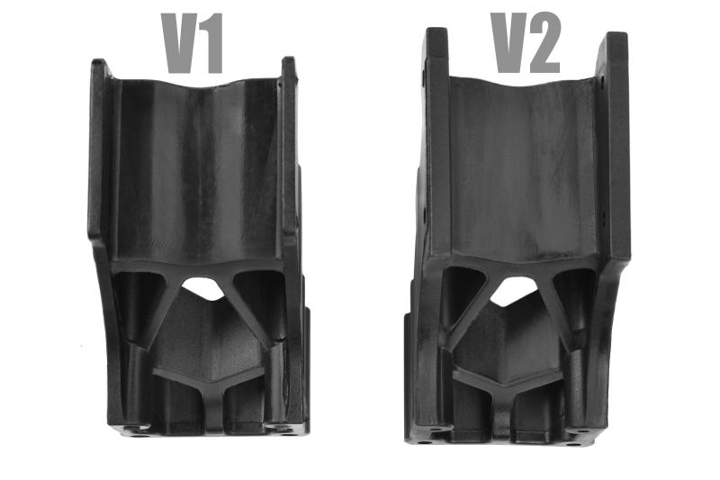Team Corally - Wing Mount - V2 - Adjustable - Composite - 1 Set
