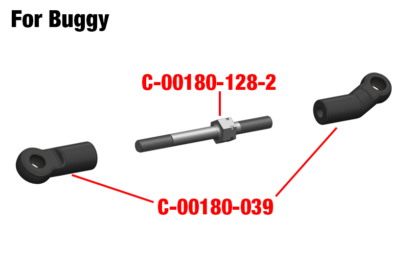 Team Corally - Steering Ball Joint - Composite - 1 set