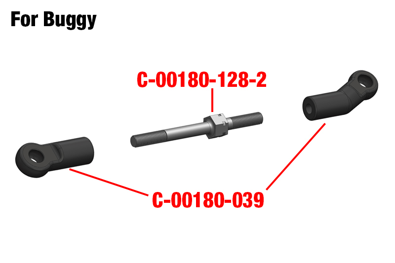 Team Corally - Turnbuckle - M4 - 50mm - Spring Steel - 2 pcs