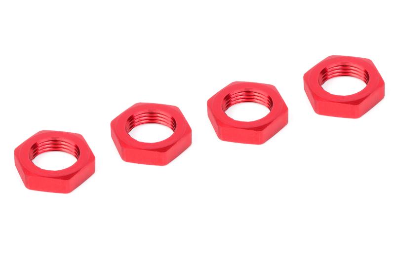 Team Corally - Wheel Nut - Aluminum - Ribbed - 4 pcs
