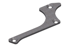 Team Corally - Suspension arm stiffener - A - Lower Front - Right - Graphite 1.5mm - 1 pc