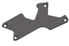 Suspension arm stiffener - Rear - Right - Graphite 1.5mm - 1 pc