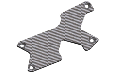 Suspension arm stiffener - Rear - Left - Graphite 1.5mm - 1 pc