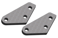 Steering Block Arms - Graphite 2.5mm - 2 pcs