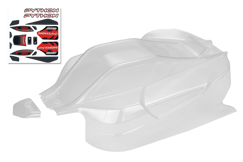 Team Corally - Polycarbonate Body - Python XP 6S - Clear - Cut - 1 pc