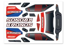 Team Corally - Body Decal Sheet  - Kronos XP 6S - 2021 - 1 pc