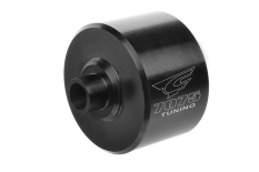Team Corally - Xtreme Diff Case - 35mm - Aluminium 7075 - Hard Anodised - Black - Center - Made in Italy - 1 pc