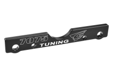 Team Corally - Suspension Arm Mount - FR - Swiss Made 7075 T6 - 3mm - Hard Anodised - Black - Made In Italy