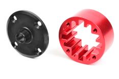 Team Corally - Differential Case - Center - 35mm - Aluminium Center / Steel Flange - 1 pc