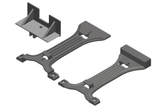 Battery Brace - 2S-3S - Composite - 1 Set