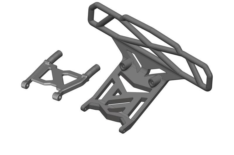 Team Corally - Bumper - Bull Bar Type - Rear - Composite