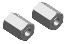 Wheel Hex Adapter - Front - Aluminum - 2 pcs