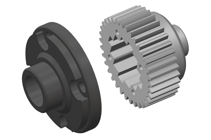 Team Corally - Diff Gear - Metal - Diff Gear Cover - Composite - 1 Set