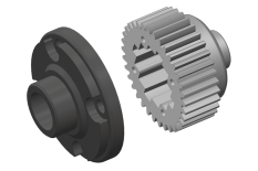 Diff Gear - Metal - Diff Gear Cover - Composite - 1 Set