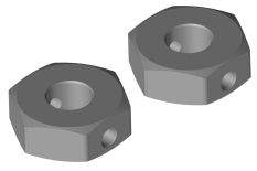 Wheel Hex Adapter - Rear - Aluminum - 2 pcs